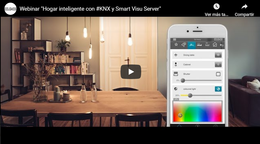 Hogar inteligente con KNX y Smart Visu Server